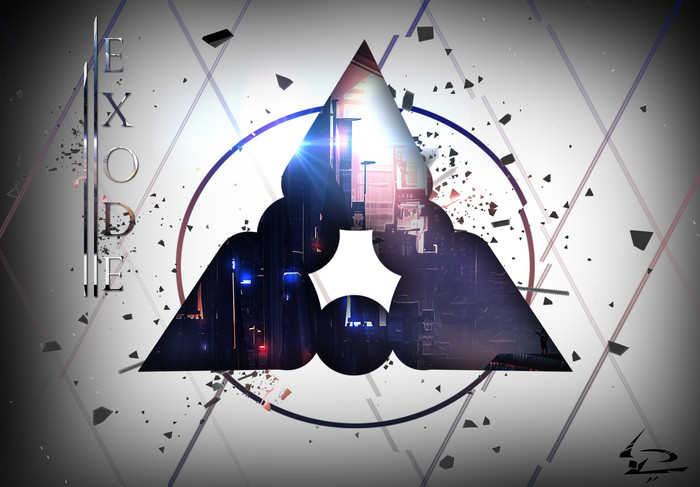 HD Wallpaper of Abstract, Triangle, Exode