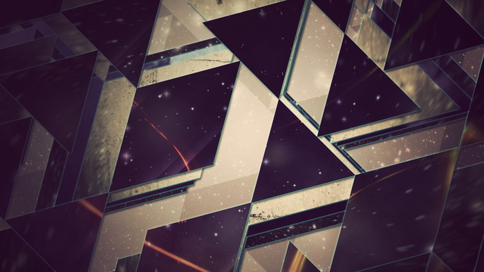 HD Wallpaper of Triangles,  Background, Shine