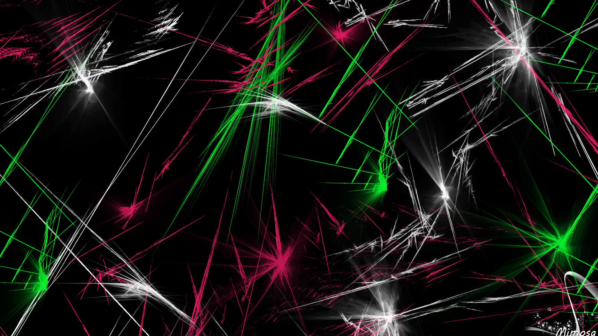 Wallpaper Of Abstract Black Colorful Digital Art Lines