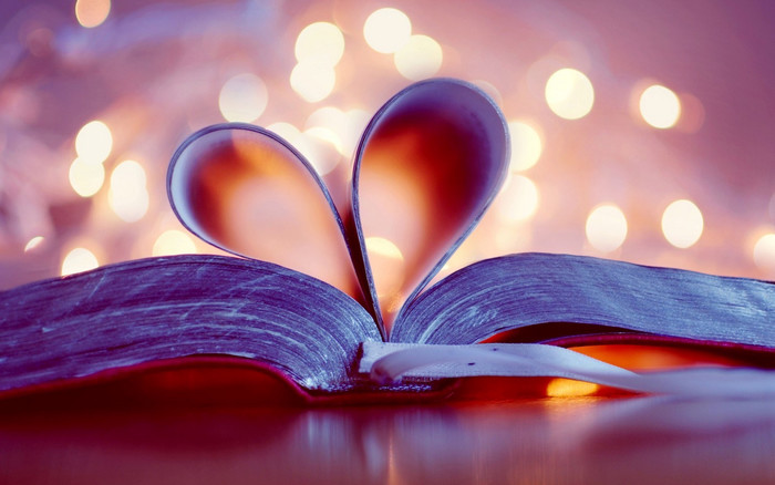 HD Wallpaper of Book, Heart, Passion