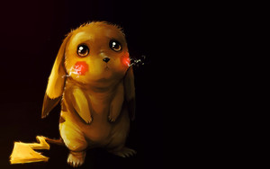 Смотреть обои Cute, Electric Pokémon, Pikachu, Pokémon, Sad