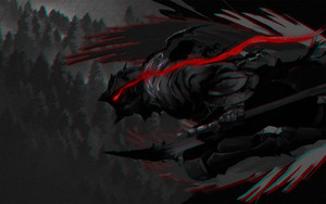 Preview wallpaper Goblin Slayer, Anime, Blood, Sword, Trees