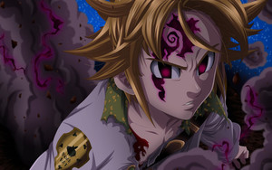 Смотреть обои Meliodas, Anime, Demon, The Seven Deadly Sins