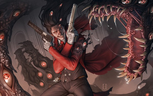 Preview wallpaper of Creepy, Eye, Gun, Hellsing, Man, Warrior