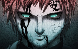 Preview wallpaper  <b>Anime</b>, Blue Eyes, Boy, Gaara Man, Naruto, Tattoo