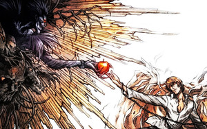 Preview wallpaper  <b>Death</b> Note, Yagami Light, Ryuk, Parody