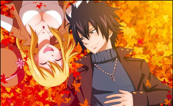 Обои Gray Fullbuster, Lucy Heartfilia, Fairy Tail