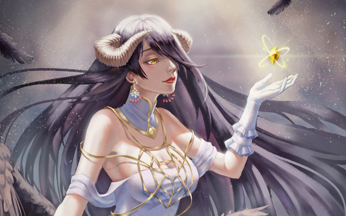 Wallpaper of Anime, Albedo, Overlord, Art background & HD image