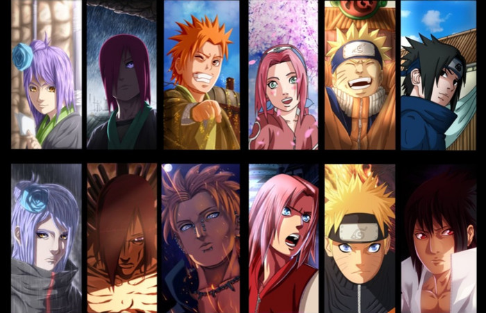 HD Wallpaper of Konan,  Nagato, Yahiko, Naruto, Sakura, Sasuke
