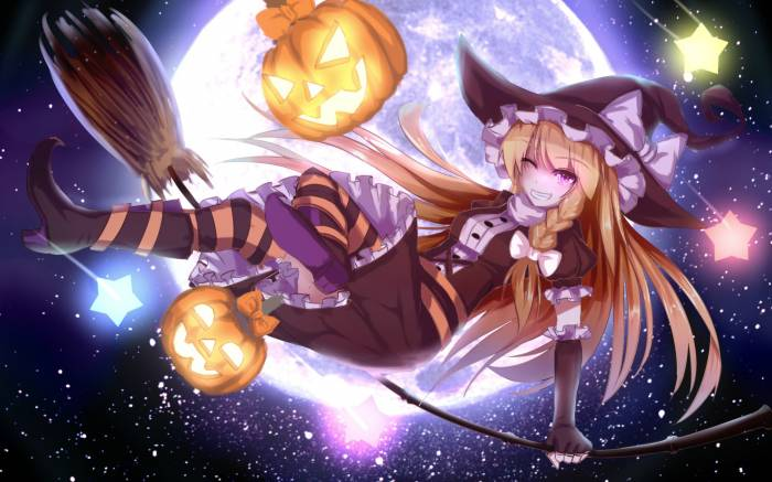 HD Wallpaper Touhou, Halloween, Kirisame Marisa