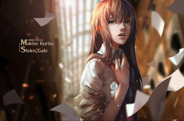 HD Wallpaper of девушка, lightofheaven, makise kurisu, steins;gate