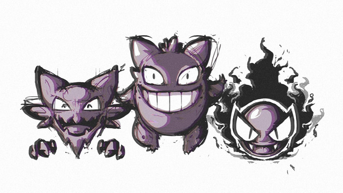 Wallpaper of Anime, Gastly, Gengar, Ghost Pokémon, Haunter background & HD image