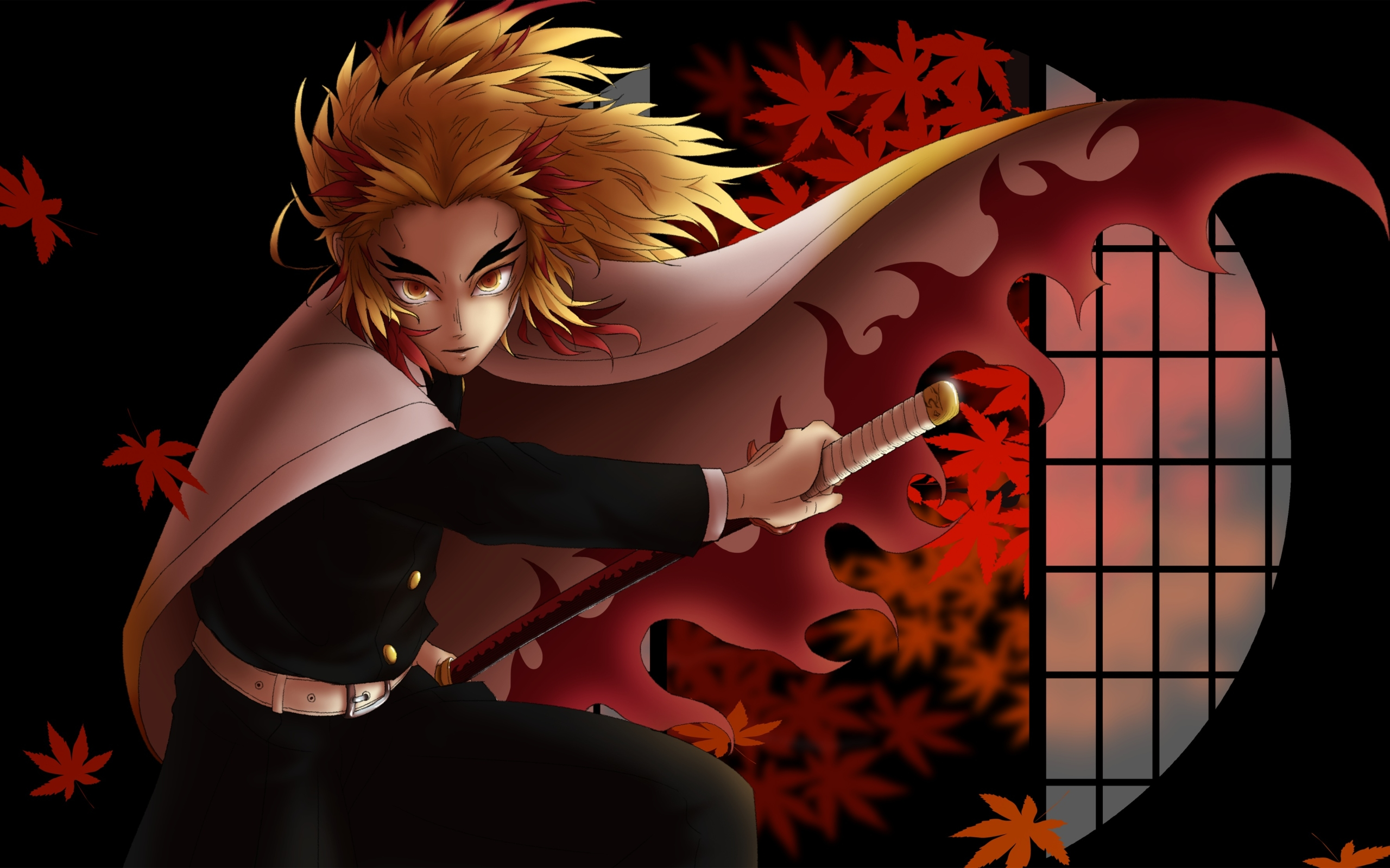 Wallpaper Of Rengoku Kyoujurou Demon Slayer Kimetsu No Yaiba