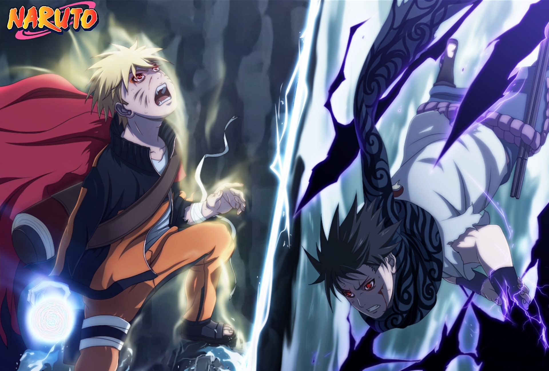 Hd wallpaper anime fight naruto uzumaki sasuke uchiha