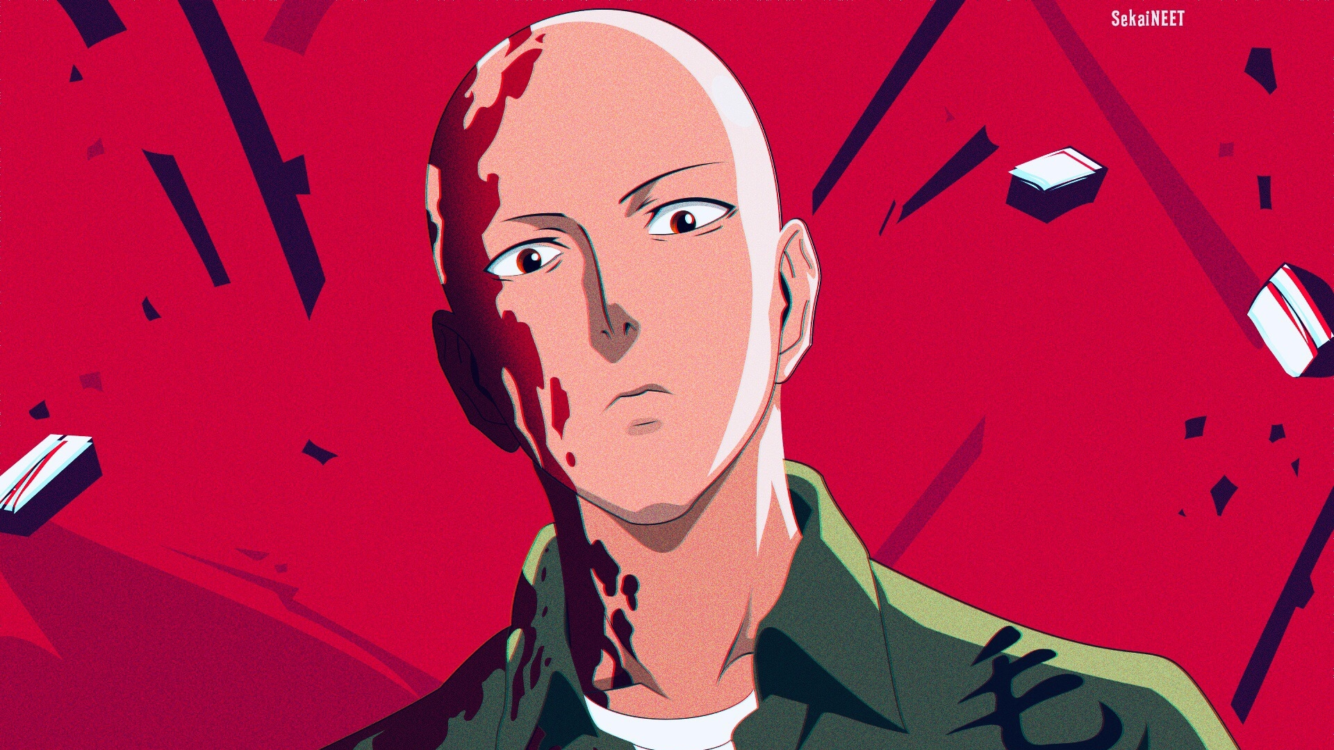 Wallpaper Of Saitama One Punch Man Art Background Hd Image