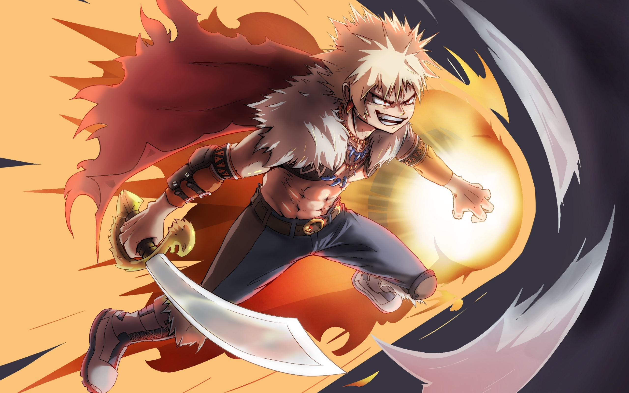 Wallpaper Of Katsuki Bakugou Fire Anime My Hero Academia