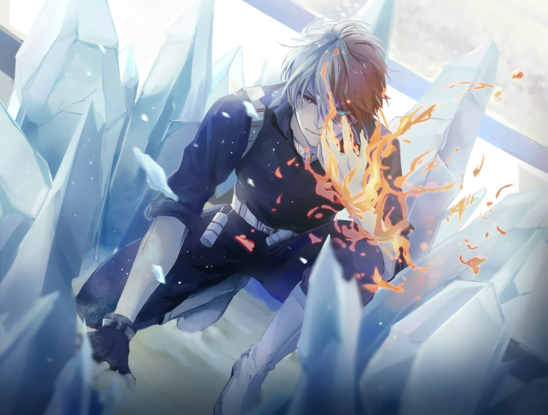Wallpaper Of Anime My Hero Academia Shoto Todoroki Background