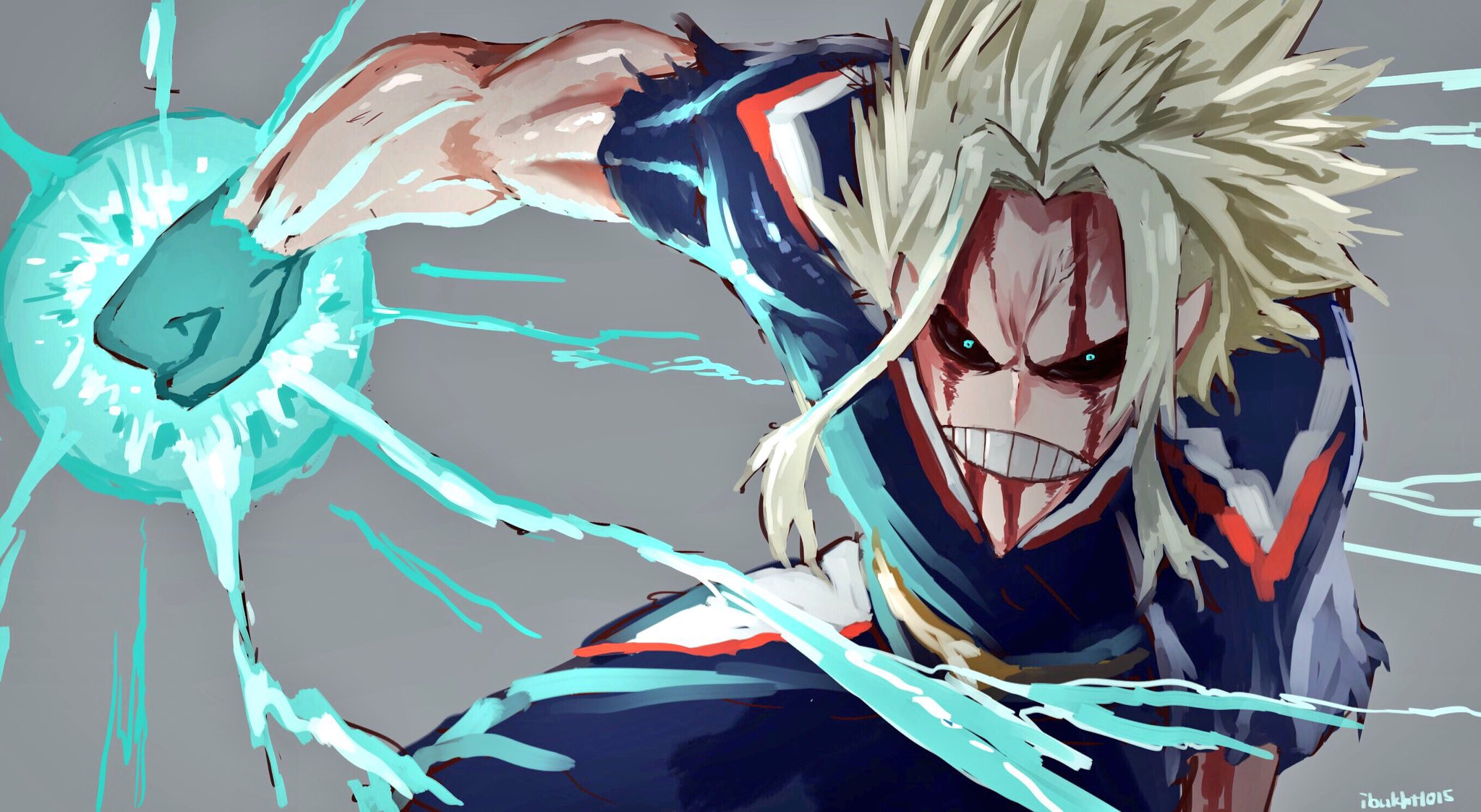 Wallpaper Of Anime My Hero Academia Blood All Might