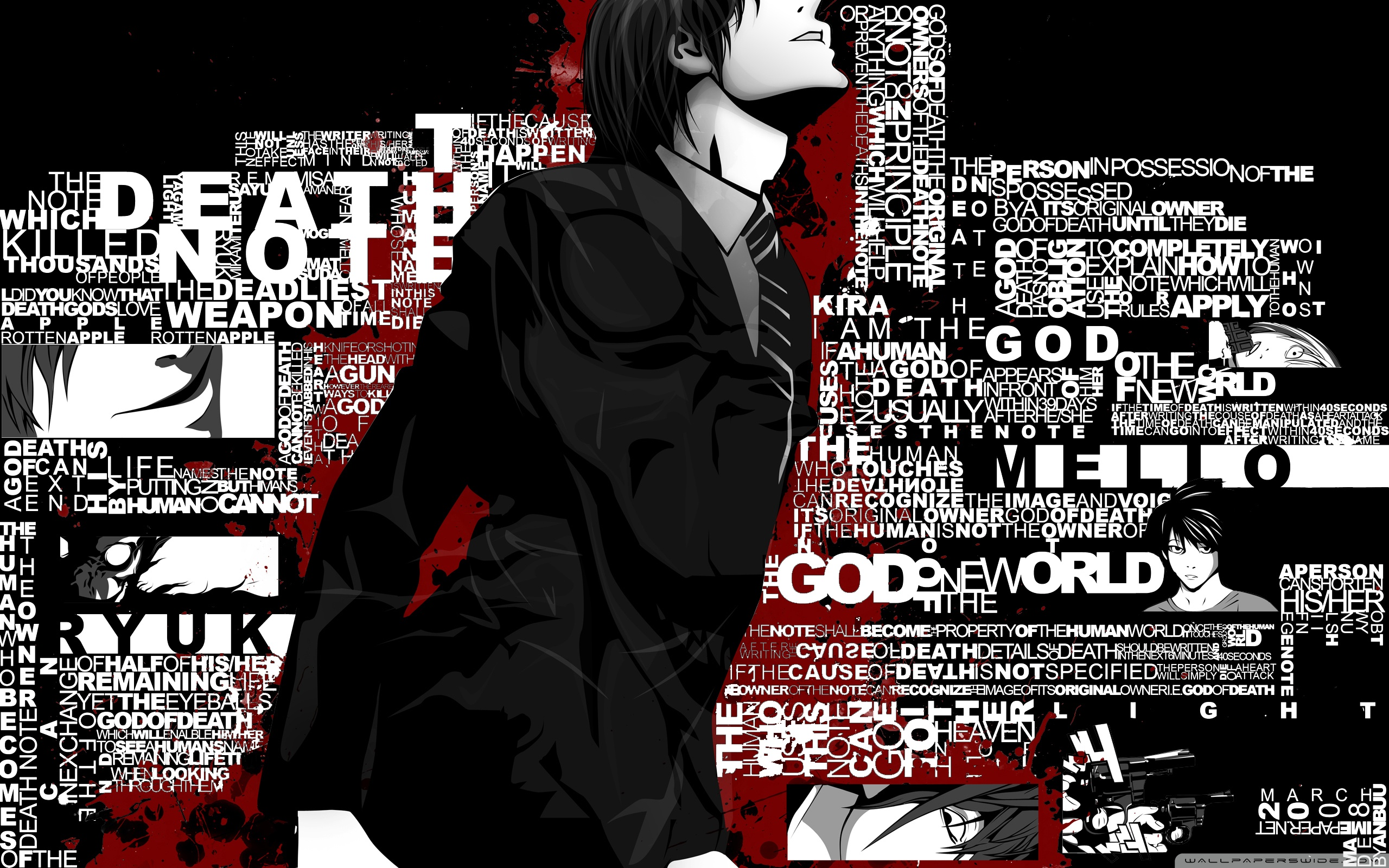 HD Wallpaper Death Note Yagami Light Ryuk L