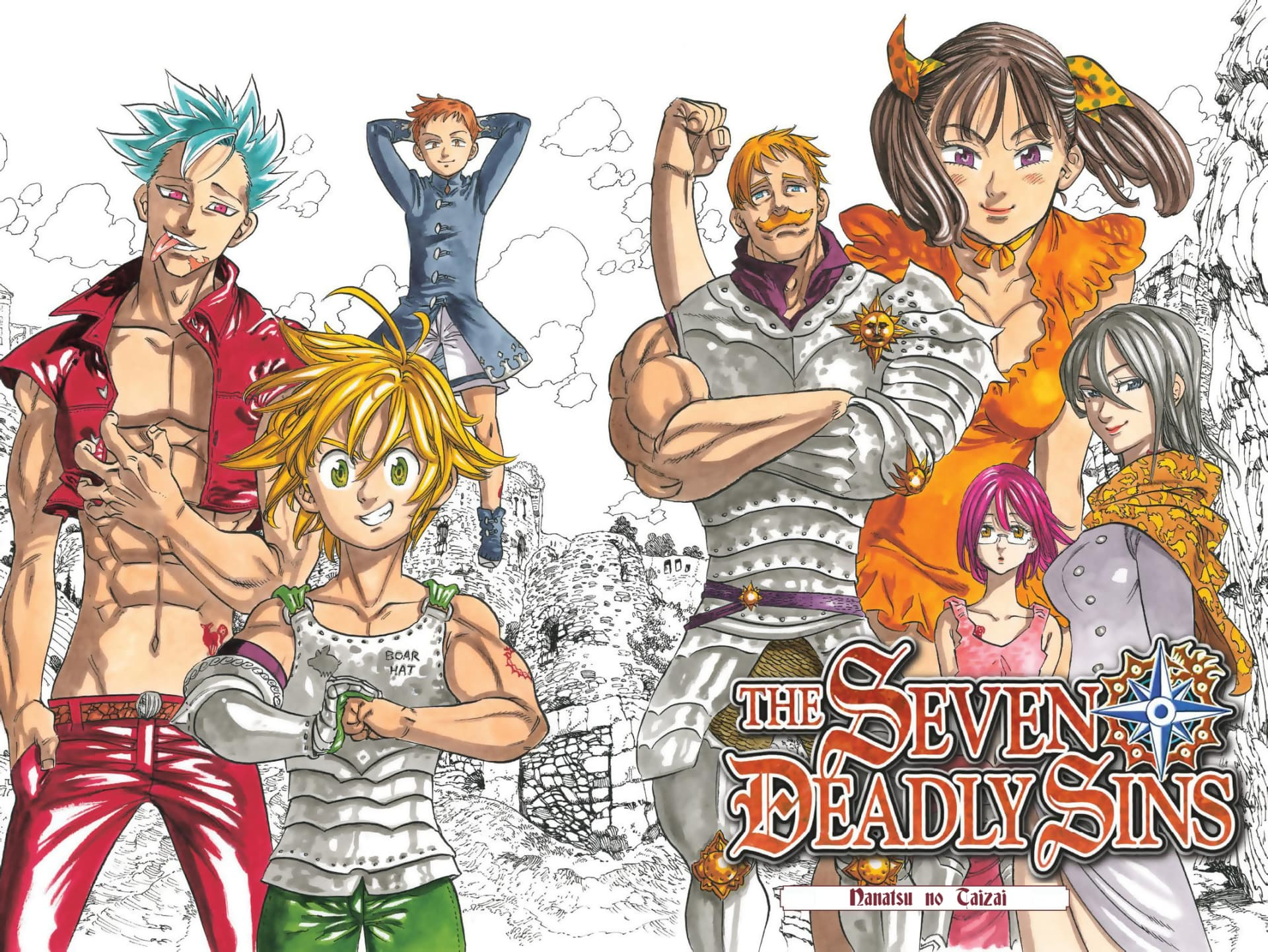 Wallpaper Of Nanatsu No Taizai Seven Deadly Sins Heroes