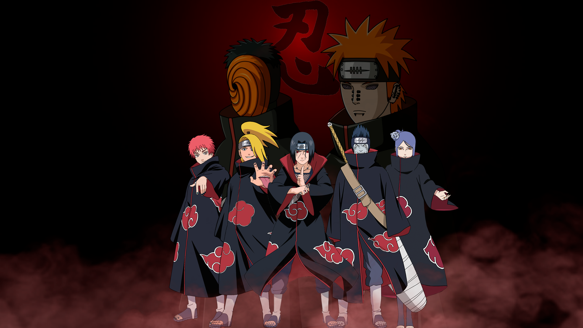 Wallpaper Of Anime Naruto Akatsuki Heroes Background Hd