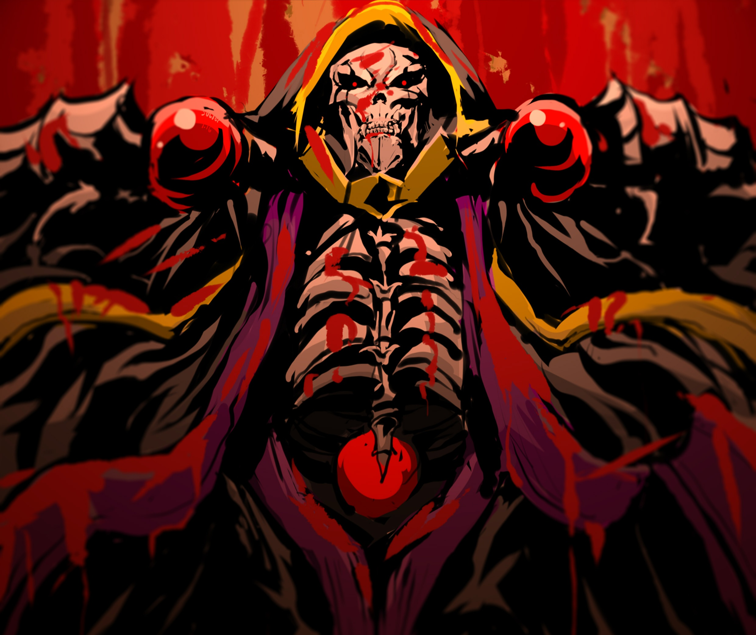 Anime Ainz Ooal Gown Overlord Art Wallpaper