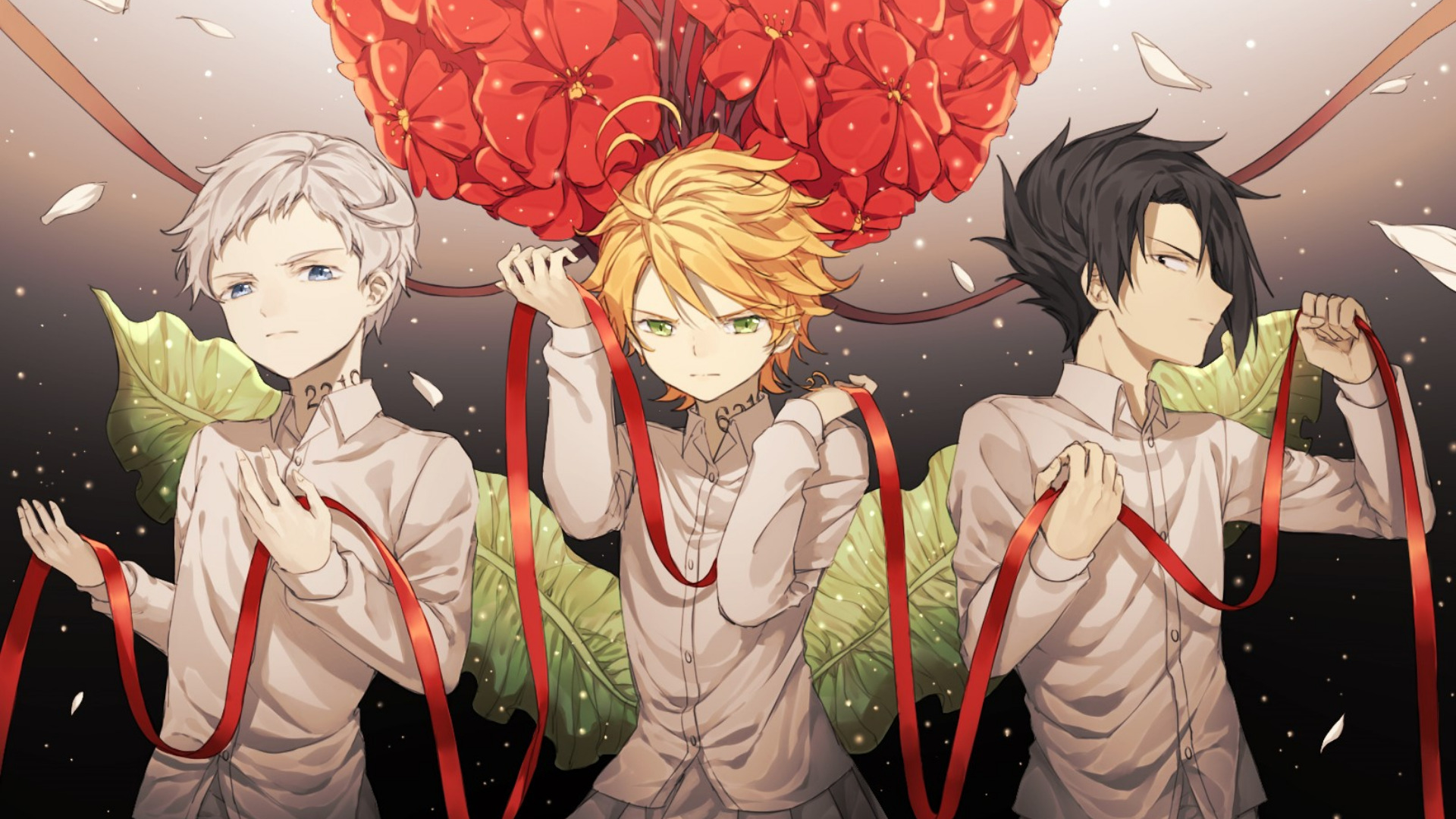 Wallpaper Of Anime Emma Norman Ray The Promised Neverland