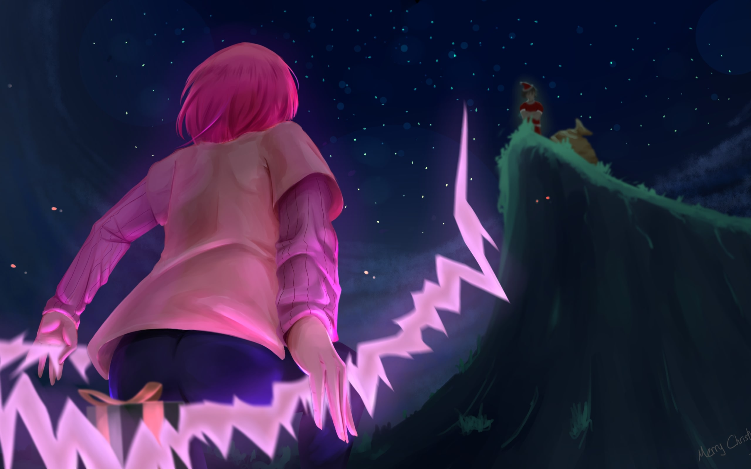 Wallpaper Of Gowther Pink Hair The Seven Deadly Sins