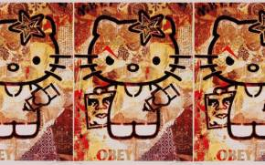 Preview wallpaper of obey + hello kitty