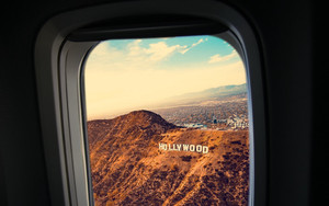 Смотреть обои Porthole, Window, Plane, Flight, Hollywood