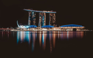 Preview wallpaper of Night, Singapore, Water