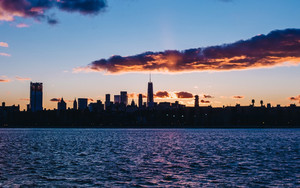 Preview wallpaper New-York, USA, Dawn, City, Panorama