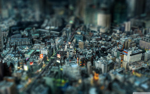 Preview wallpaper Cityscape, Japan, Photography, Tilt-Shift, Tokyo