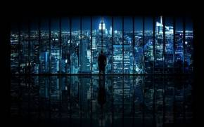 Preview wallpaper  The Dark <b>Knight</b>, Window to Gotham City, New York