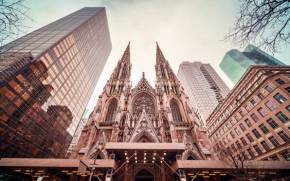 Смотреть обои St. Patrick's Cathedral, New York