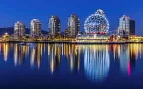 Preview wallpaper  <b>Город</b> Yaletown ночью в огнях Vancouver Canada