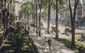 Смотреть обои Broadway, New York, Saratoga Springs, 1915