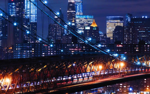 Смотреть обои USA, Night City, Bridge, Walliamsburg