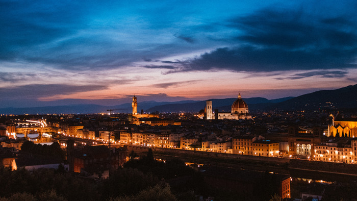 HD Wallpaper of Florence, Intaly, Night City