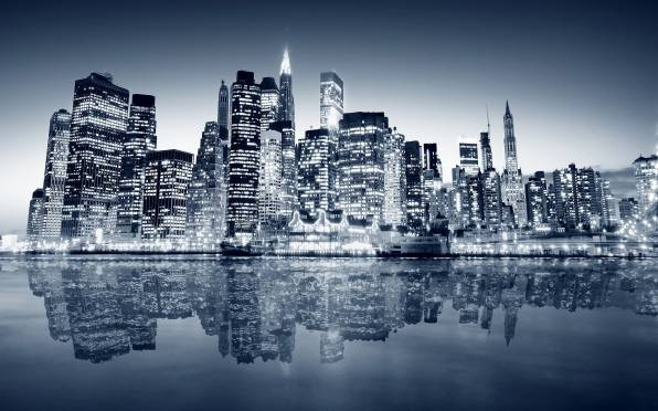 HD Wallpaper of Harbor, New York, Night city