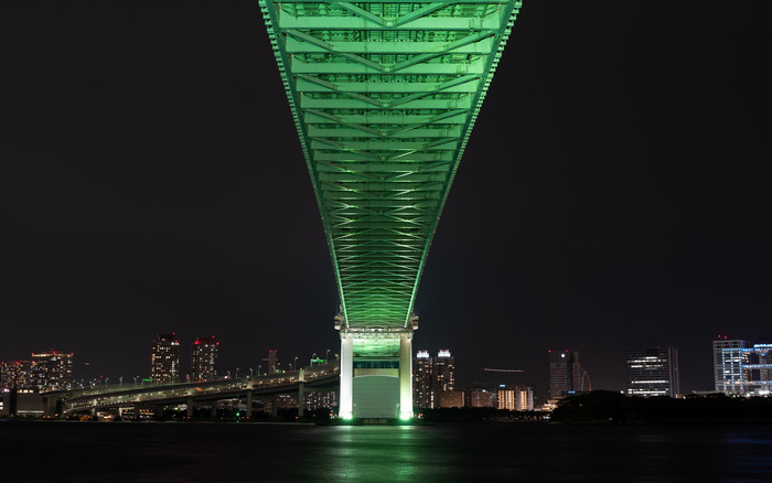 HD Wallpaper Bridge, Night city, Tokyo