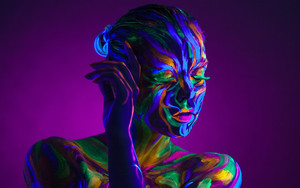 Preview wallpaper  <b>Colorful</b>, Face, Woman, Girl