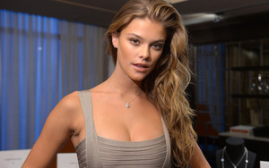 Preview wallpaper Blonde, Danish, Long Hair, Model, Nina Agdal