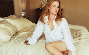 Preview wallpaper Actress, Australian, Bed, Blue Eyes, Nicole Kidman