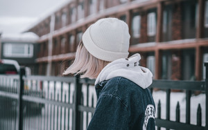 Preview wallpaper  <b>Girl</b>, A cap, Jacket, Winter
