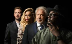 Смотреть обои The Voice UK, tom jones, ricky wilson, rita ora