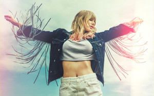 Preview wallpaper American, Blonde, Denim, Shirt, Taylor Swift