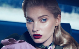 Preview wallpaper Blonde, Elsa Hosk, Face, Lipstick, Model