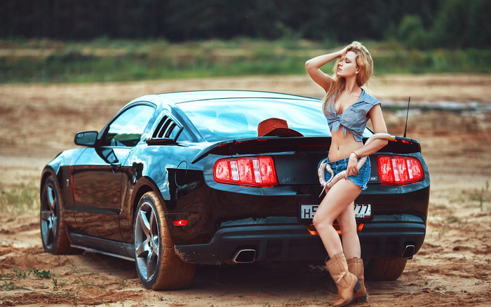 HD Wallpaper Blonde, Car, Long Hair, Model