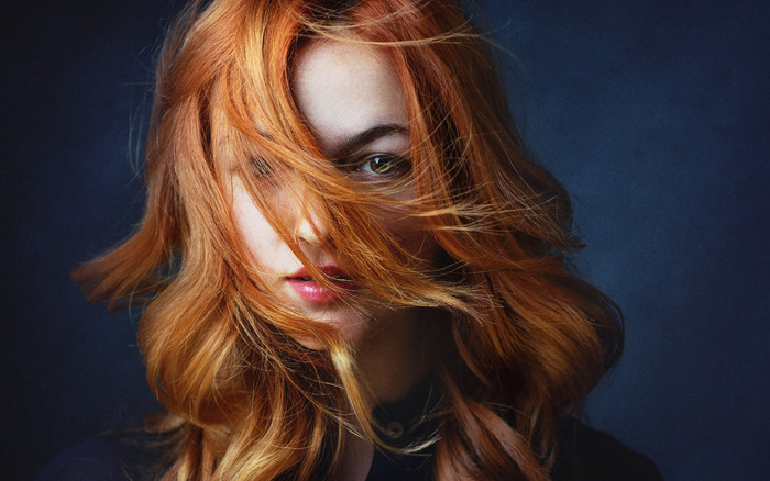 Wallpaper of Face, Girl, Lipstick, Model, Redhead, Woman background & HD image